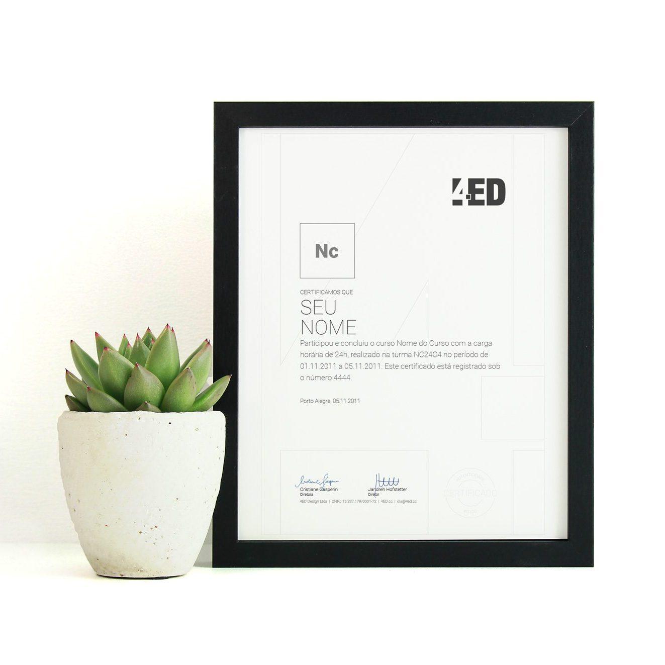 Certificado de Curso 4ED