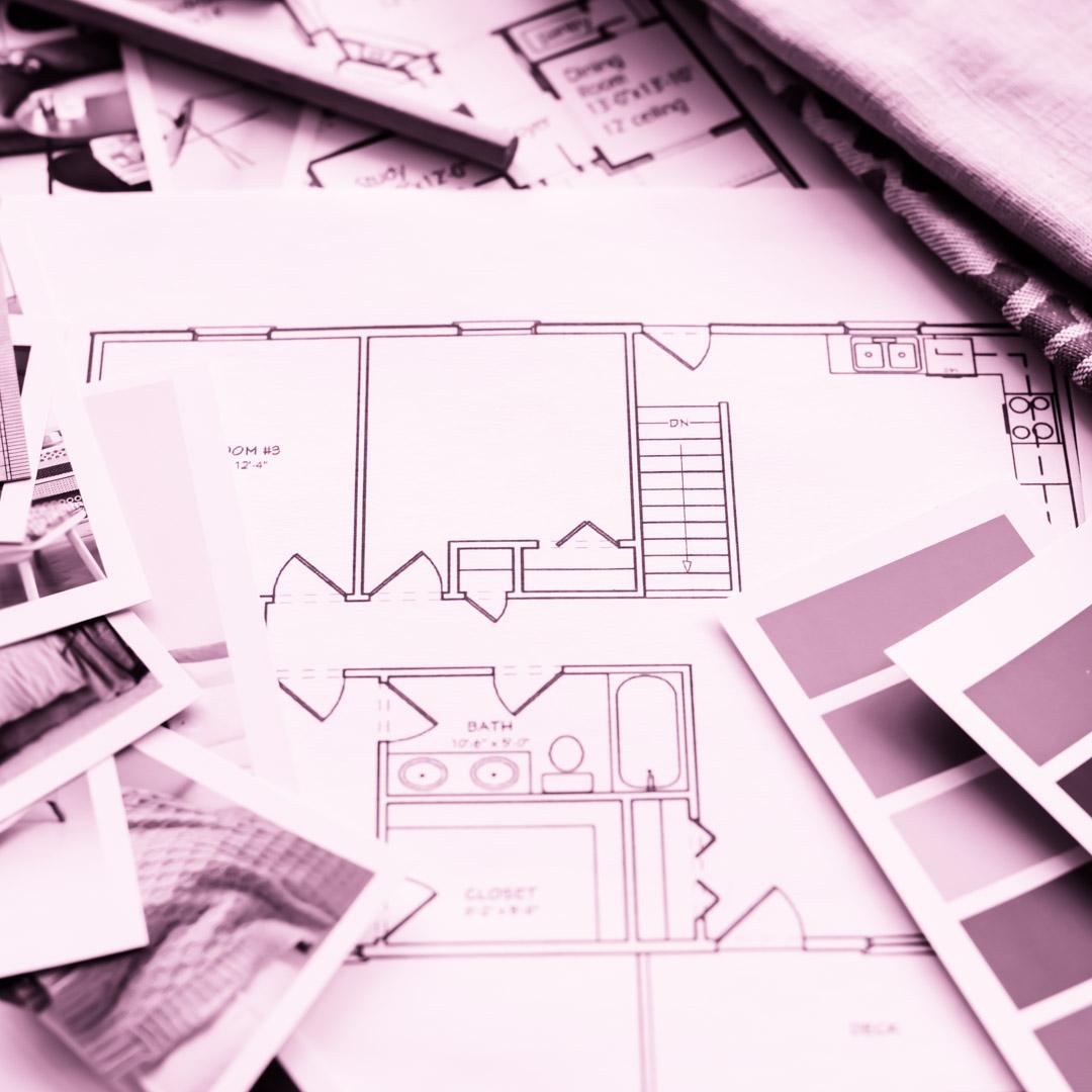 Designer de Interiores trabalhando no projeto de design de interiores - 4ED escola de design