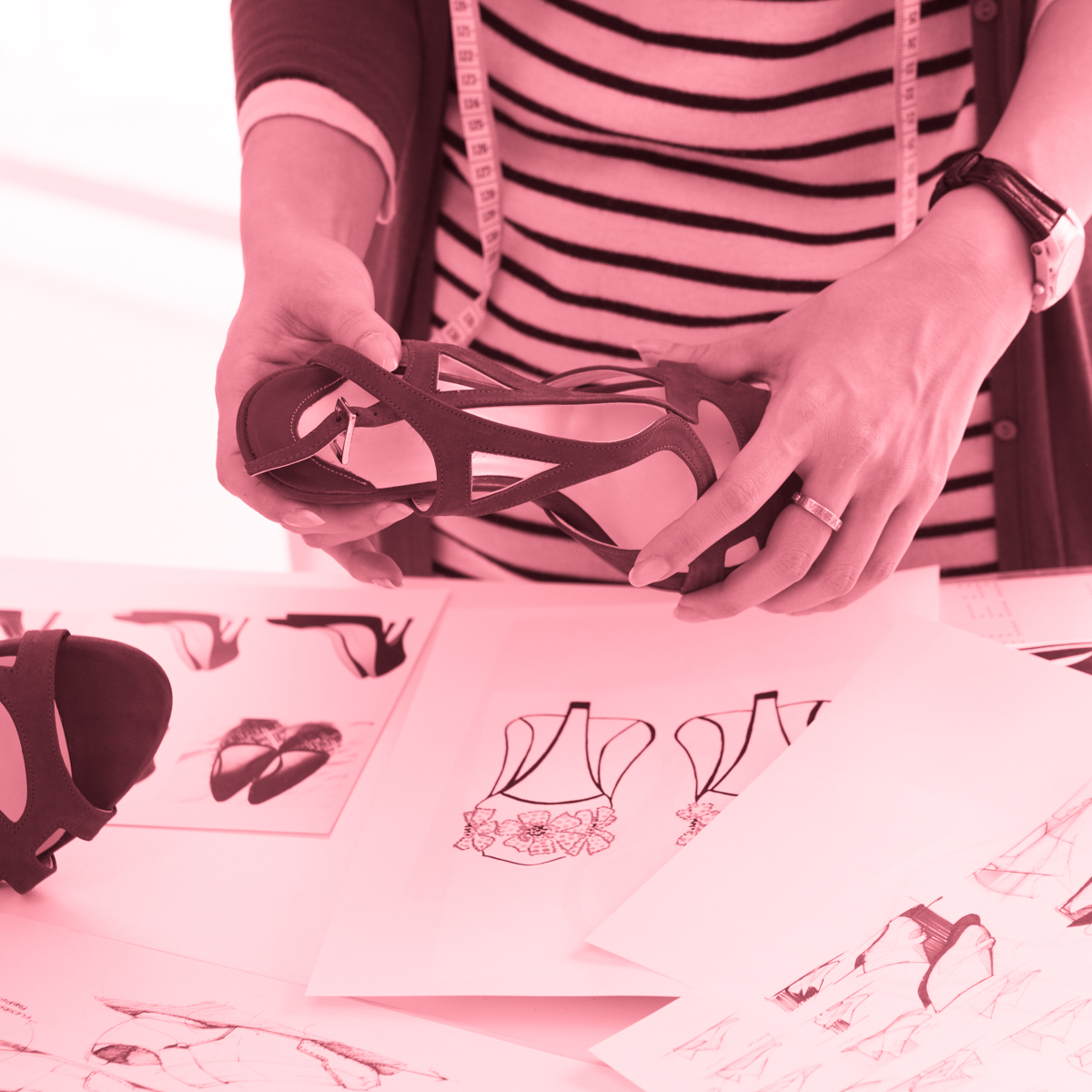 Sketch projeto Design de Calçados - 4ED escola de design